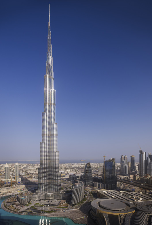 Burj Khalifa, el edificio más alto del mundo. Image Cortesía de SOM