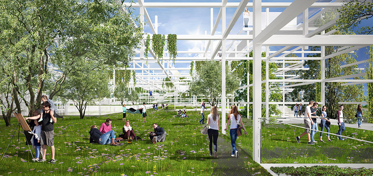 Sustainable Proposal Envisions Krakow's New Science Center as a Tiered Garden  , Courtesy of OVO Grąbczewscy Architekci