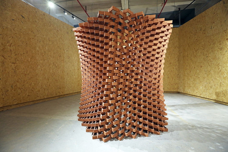in china an experimental pavilion of ceramic bricks fuses