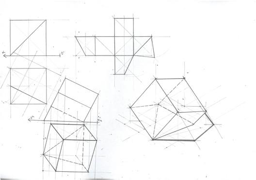 Cube Section Planar Change 1. Image Courtesy of Michael Neatu | freehandarchitecture.com