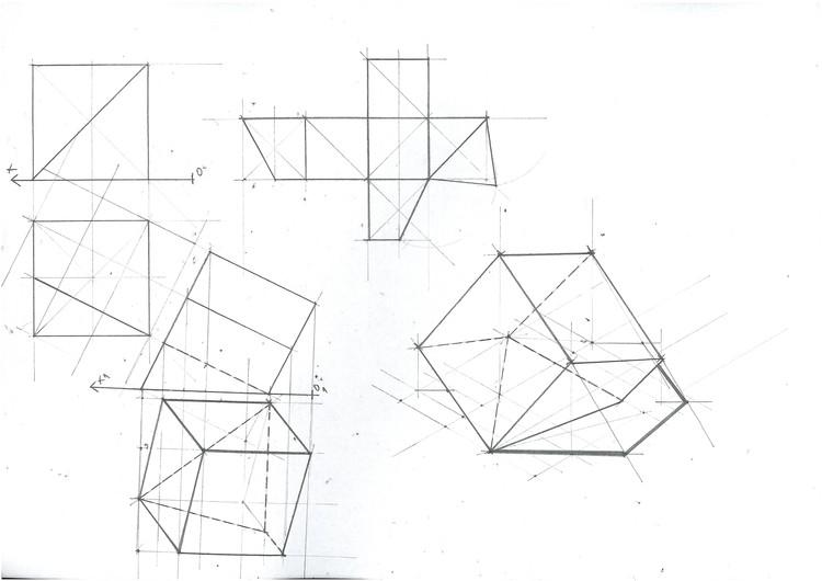 Cube Section Planar Change 1. Image Courtesy of Michael Neatu   freehandarchitecture.com