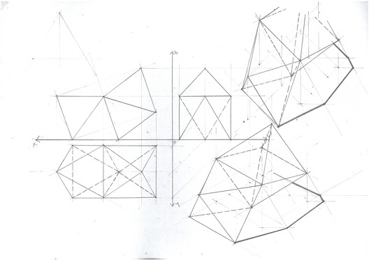 Octahedron Mirror Planar Change. Image Courtesy of Michael Neatu | freehandarchitecture.com