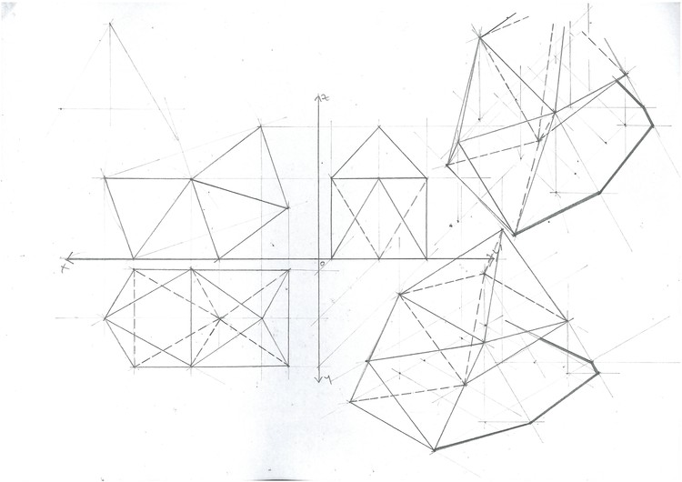 20 technical architecture drawing tips archdaily Types of Scale octahedron mirror planar change image courtesy of michael neatu freehandarchitecture