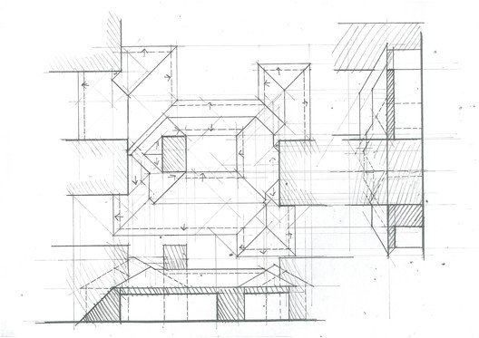 Standard Roofing Exercise. Image Courtesy of Michael Neatu | freehandarchitecture.com