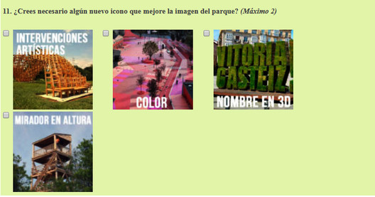 Cuestionario para la ciudadanía del proyecto de diseño participativo en Pradogrande. Image © Paisaje Transversal