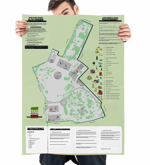 Mapa BIG usado en el diseño colaborativo del parque Pradogrande. Image © Paisaje Transversal