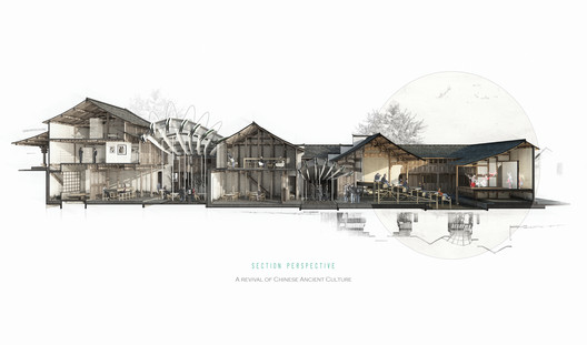 Xinyuan Cao (commended, Digital category): Renovation of Denggao Village. Image Courtesy of Sir John Soane's Museum