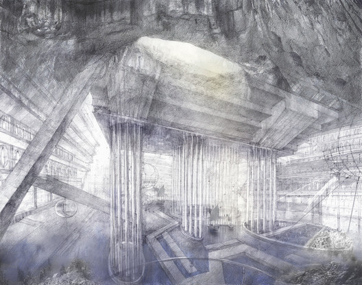 Anna Budnikova (commended, Hybrid category): Hydrological cluster. Image Courtesy of Sir John Soane's Museum