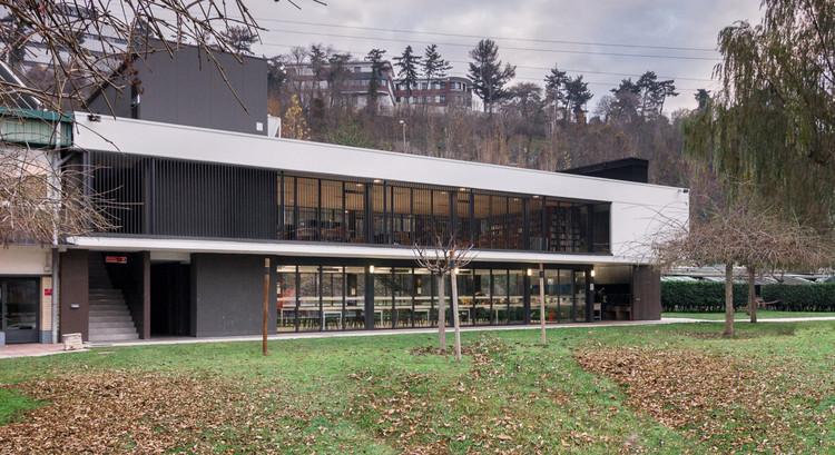 Edificio de comedor, asadores y biblioteca / Araiz Floristán Arquitectos + 3G Arquitectos, © David Ramírez