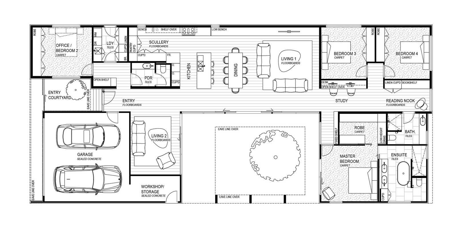 The courtyard housefloor plan