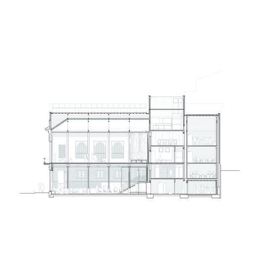 Longitudinal Section Auditorium