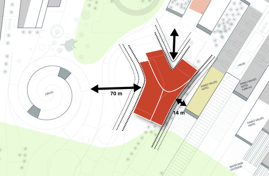 Massing and approach diagram. Image Courtesy of UNStudio