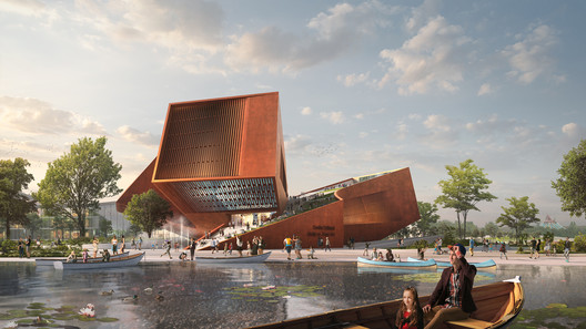 Entrance. Rendering by Flying Architecture. Image Courtesy of UNStudio