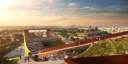 Rooftop. Rendering by Flying Architecture. Image Courtesy of UNStudio