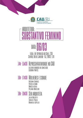 "CAU-RJ promove debate ""Arquitetura: substantivo feminino"""