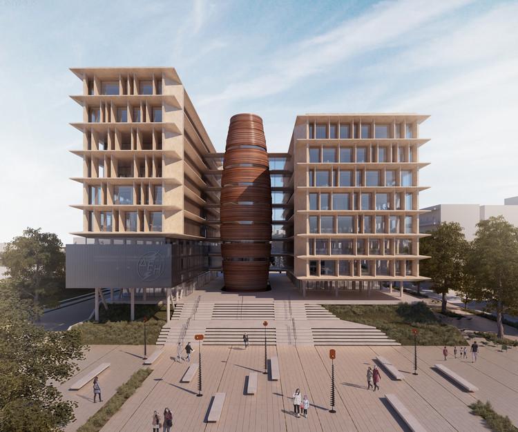 Winning Design Seeks to Increase Public Power Corporation Headquarter's Environmental Awareness, Courtesy of Micromega