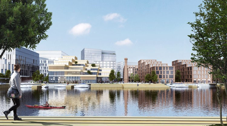 Henning Larsen Architects' £400 Million Belfast Development Will Block Wind to Increase Comfortability of Outdoor Space, Courtesy of Henning Larsen Architects