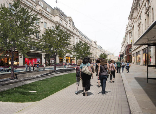 A vision of the future Regent Street. Image via Walkable London