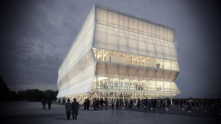 Smiljan Radic y sus expectativas sobre lo que será el Teatro Regional del Biobío en Chile, Diseño del Teatro Regional del Biobío en mayo de 2016.. Image Cortesía de Consejo Nacional de la Cultura y las Artes