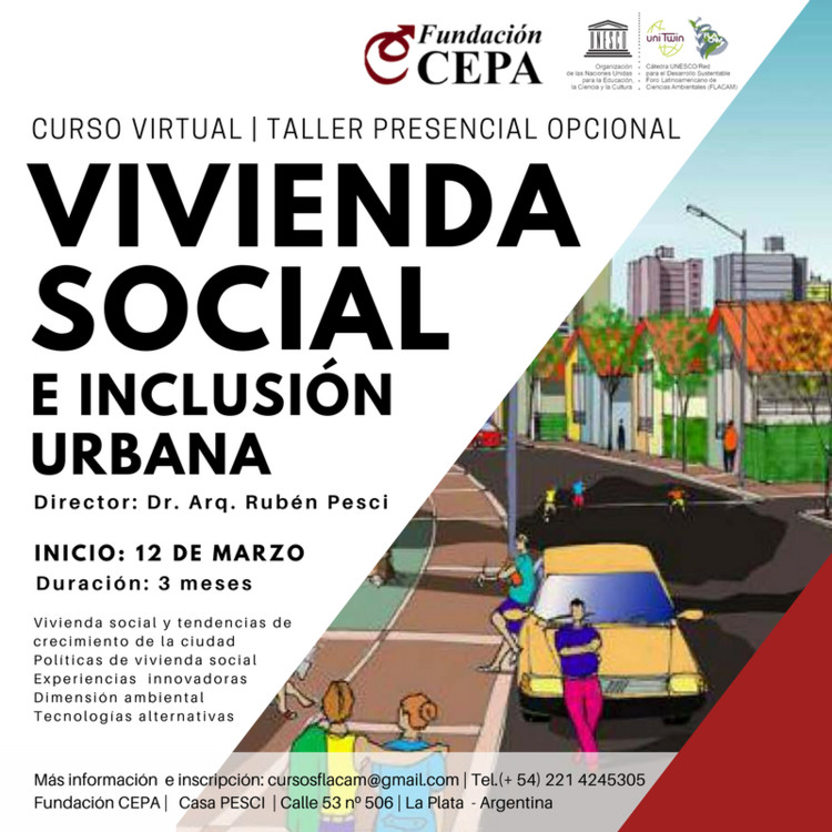 Curso Virtual Vivienda Social e Inclusión Urbana, Pre - inscripción curso Vivienda Social e Inclusión Urbana : https://goo.gl/forms/32n3wXZRLtlJbKaS2