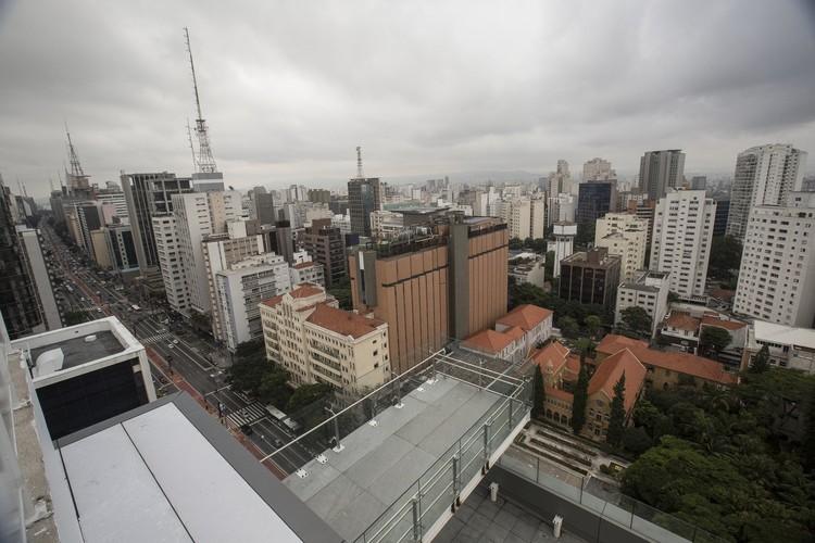 Sesc na Avenida Paulista será inaugurado em abril deste ano, Vista do mirante na cobertura do edifício. Foto: Divulgação/Sesc