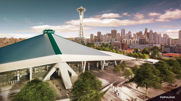Arena at Seattle Center Aims for NHL Expansion Team with $600 Million Populous-led Renovation, Courtesy of Populous