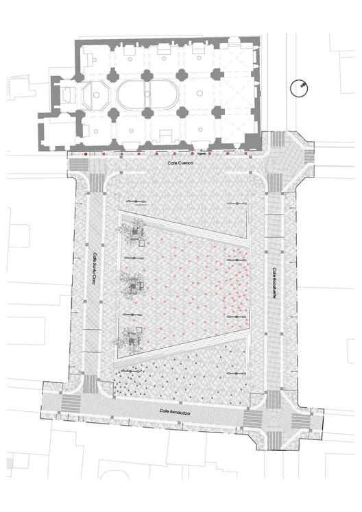 Plaza Santa Clara Plan / Municipio del Distrito Metropolitano de Quito. Image via Municipio del Distrito Metropolitano de Quito