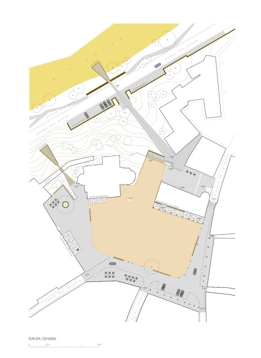 Plaza Mayor de Almazán Plan / CH+QS arquitectos. Image via CH+QS arquitectos