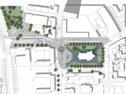 St Johannesplan & La Plaza Konsthall Plan / White. Image via White