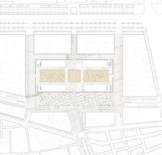 Born Market area plan / Vora. Image via Vora
