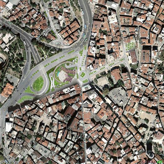 Parque Şışhane Plan/ SANALarc. Image via SANALarc