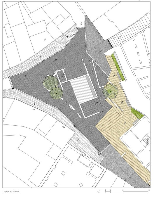 Calafell Castle Aqueological Park Plan / BQC Arquitectes. Image via BQC Arquitectes