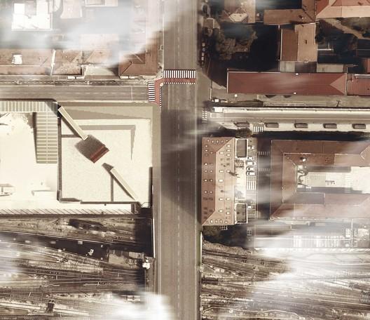 Memorial Bologna Shoah Plan / SET. Image via SET