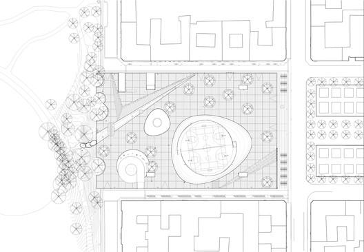 Plaza Israel Plads Plan / Sweco Architects + COBE. Image via Sweco Architects + COBE