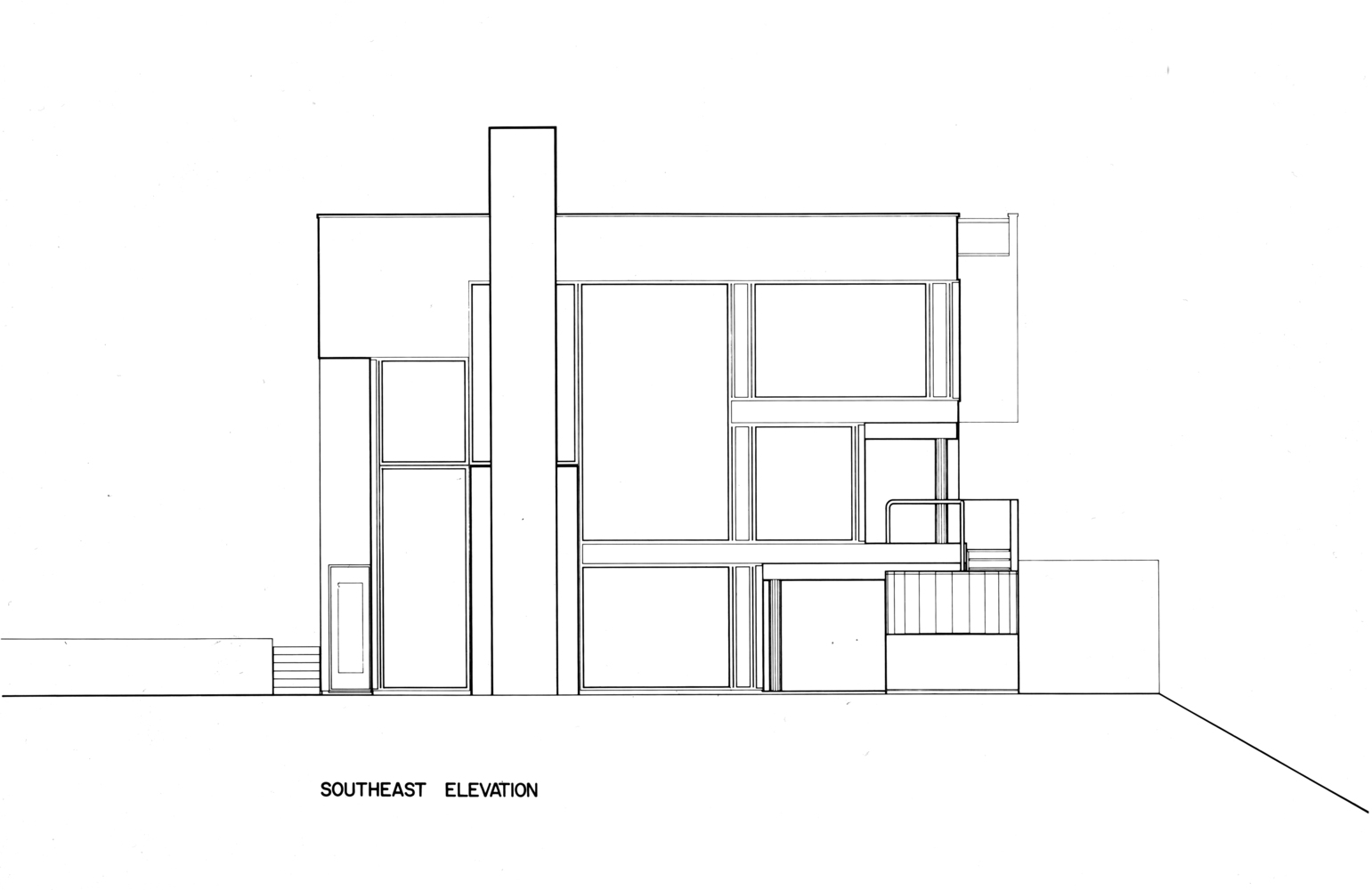 Gallery of AD Classics Smith House Richard Meier Partners 21 – Richard Meier Smith House Floor Plans