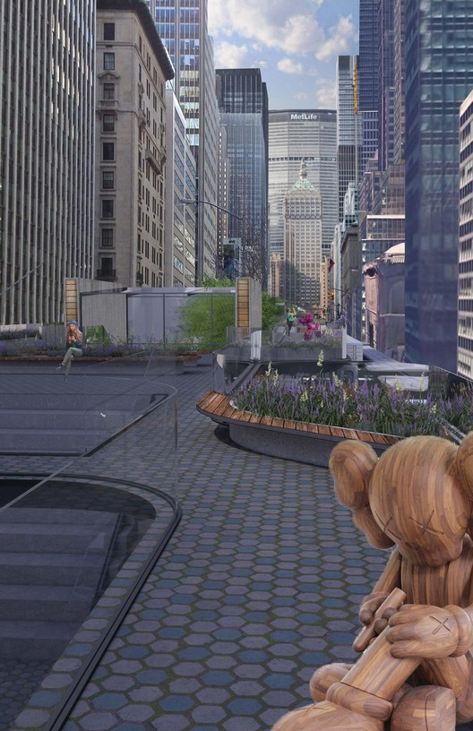 "C028-5 ""Elevated Walkway"" / Jonathan Elmore. Image Courtesy of Fisher Brothers"