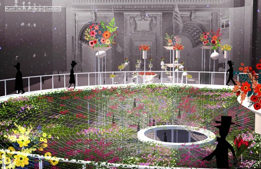 """F005-4 """"Floating Garden"""" / Terrain Work. Image Courtesy of Fisher Brothers"""