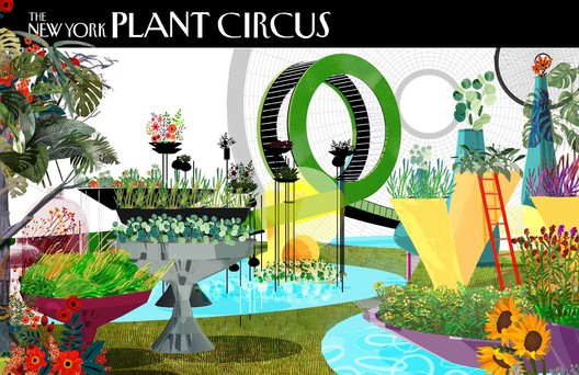 """F005-1 """"Botanical Circus"""" / Terrain Work. Image Courtesy of Fisher Brothers"""