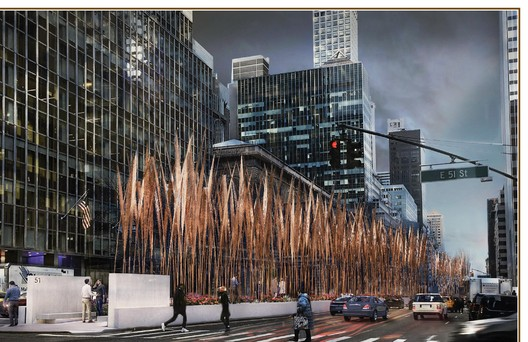"""B043-3 """"30-ft Stalks"""" / Wilkinson Architects. Image Courtesy of Fisher Brothers"""