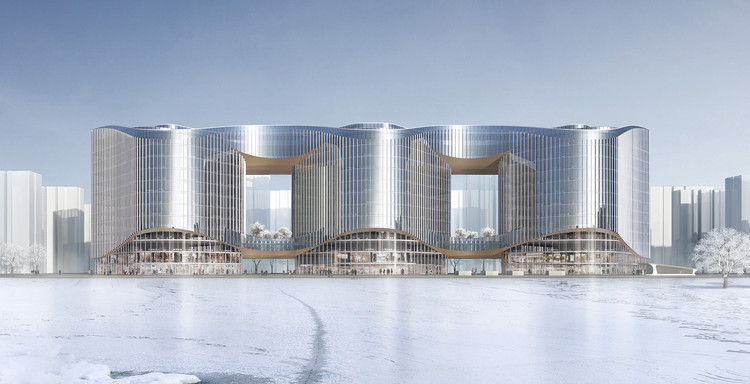 Aedas Unveil Design for an Undulating Office Complex in Central China, Courtesy of Aedas