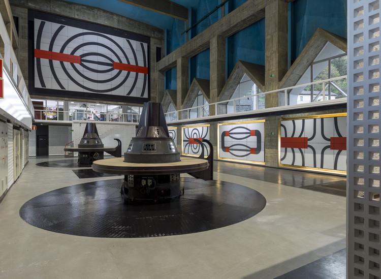 Exposición 'Joaquín Vaquero Palacios: La belleza de lo descomunal. Asturias, 1954-1980' en Museo ICO, Integración artística en la Central hidroeléctrica de Proaza (Asturias), 1964- 1968 / Joaquín Vaquero Palacios. Image © Luis Asín
