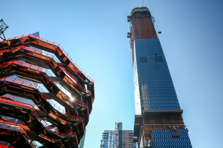 Torre 15 Hudson Yards de Diller Scofidio + Renfro tem sua estrutura concluída, Cortesia de Related-Oxford