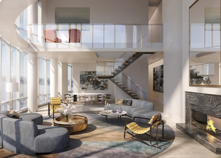 Duplex Penthouse interior. Image Courtesy of Related-Oxford