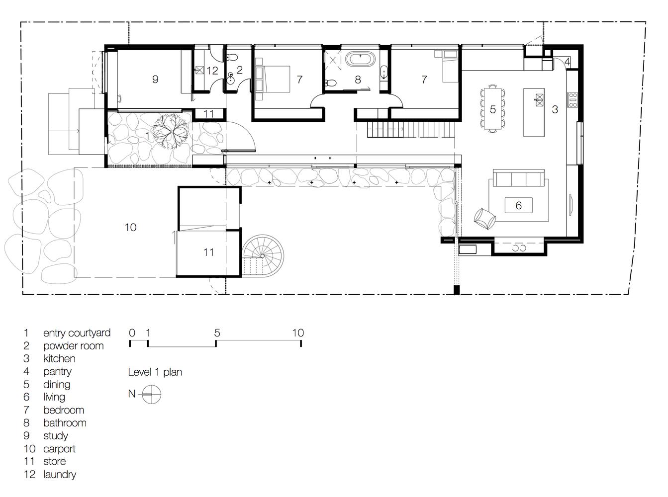 Torquay Concrete House,Ground Floor Plan