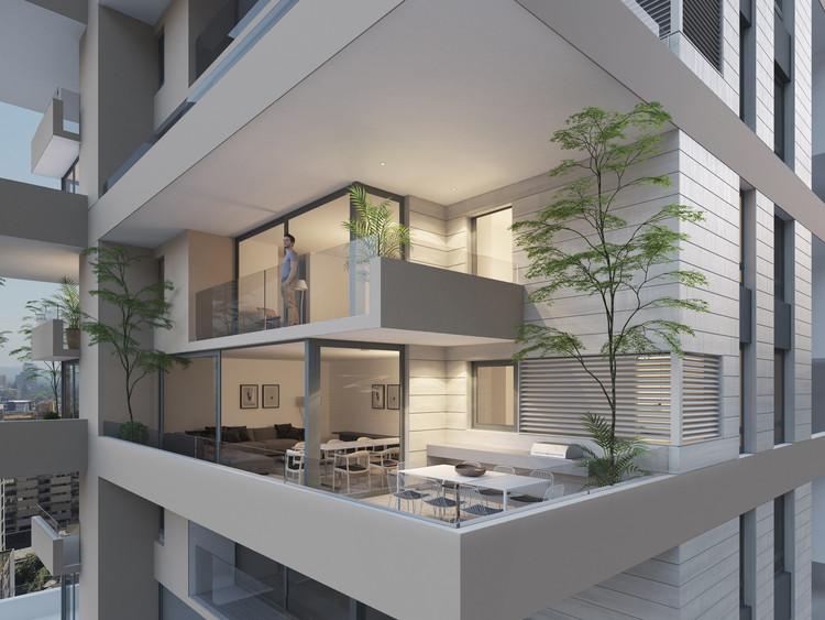 ¿Puede surgir buena arquitectura del negocio inmobiliario? Un proyecto de 'casas en altura' en Santiago de Chile, Cortesía de MoDe Studio
