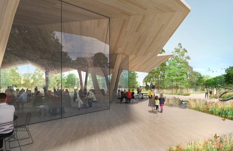 New South Dining Pavilion. Image Courtesy of Studio Gang