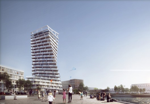 Hamonic + Masson & Associés Unveil Twisting Residential Tower to Be Built in Le Havre, France