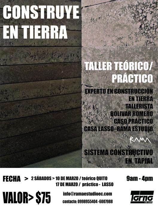 Taller 'Construye en tierra' en Torno Co.Lab, rama estudio