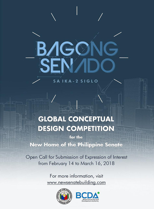 Open Call for Submissions: New Senate Building of the Philippines