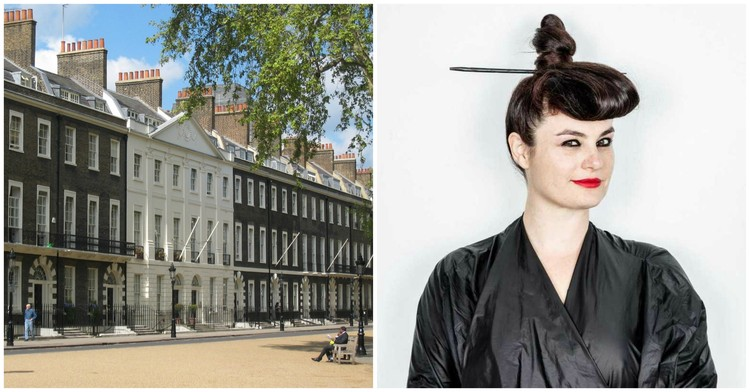 Eva Franch i Gilabert seleccionada como la nueva directora de Architectural Association, Left, The Architectural Association on Bedford Square, London. Photograph by wikimedia user Jeremysm. Image is in the public domain. Right, Eva Franch i Gilabert. Photo by Stefan Ruiz